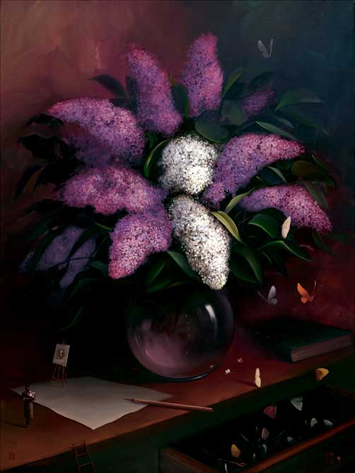 Lilacs (Self Portrait) by Victor Bregeda