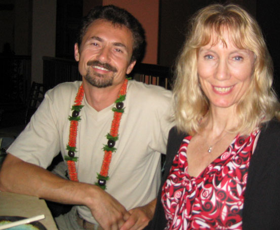 Victor Bregeda with Kim Jacoby