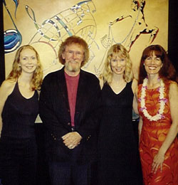 Owner Dick Sargent with Kim Jacoby, Mimi Stuart, & Lara Smith