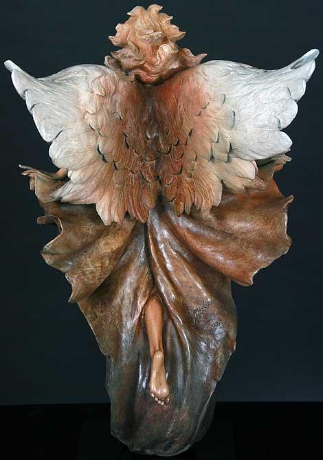 Transcendence (back) - Bronze Sculpture