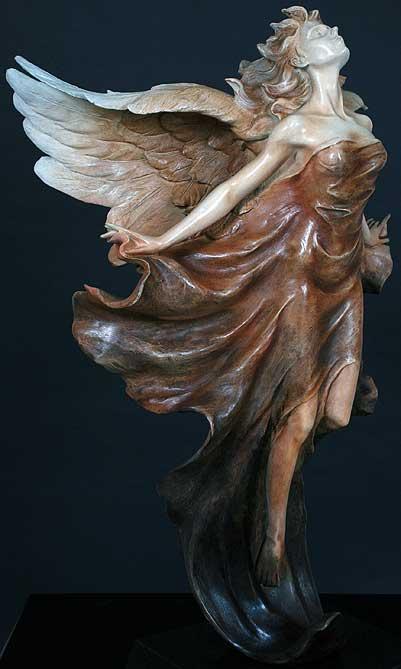 Transcendence (side) - Bronze Sculpture