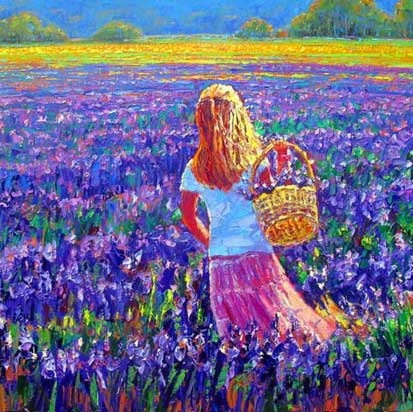 Art by Roman Czerwinski: Lavender Sunset
