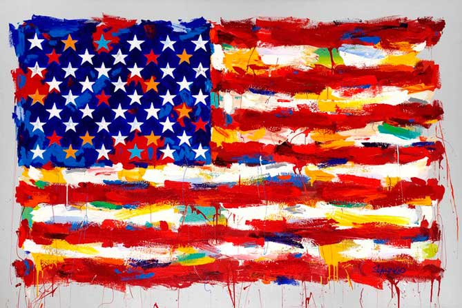 Painting by John Stango: American Flag