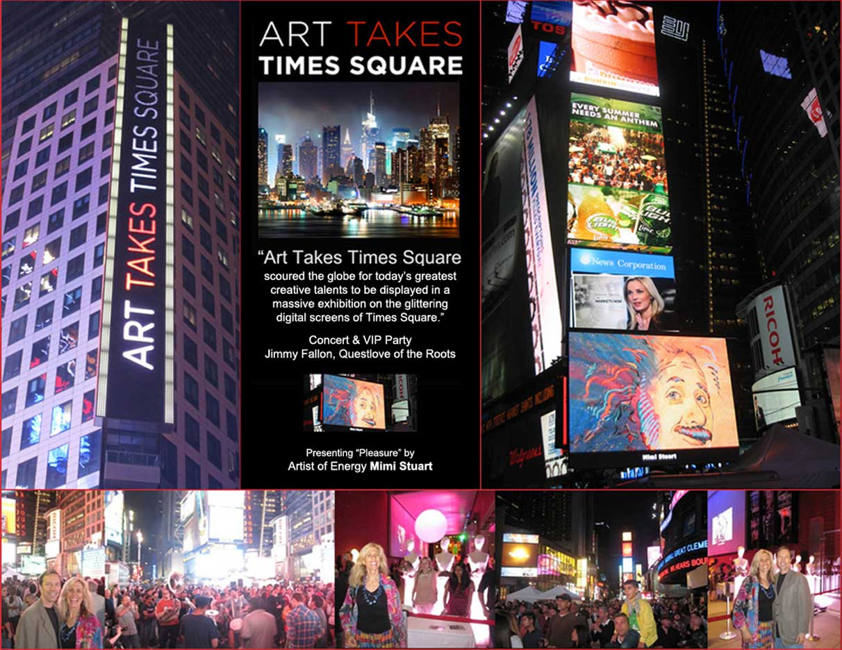 Art Takes Times Square Massive Digital Display